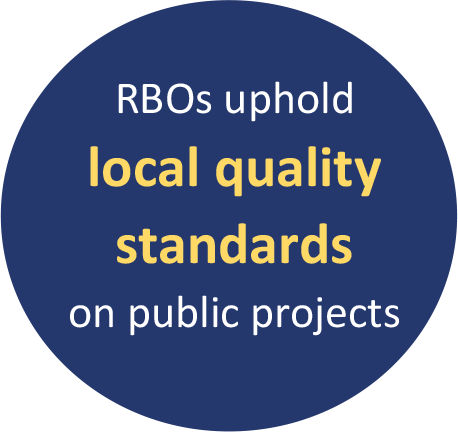 RBOs uphold local quality standards on public projects